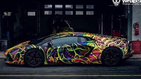 wrapped lamborghini lamborghini aventador wrapped by wrapstyle looks psychedelic