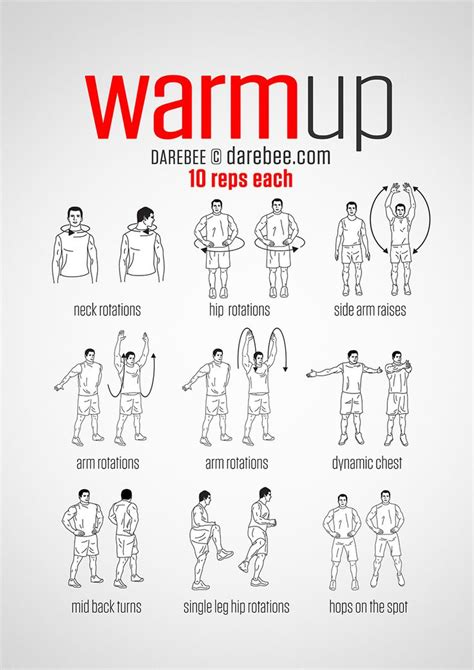 25 best ideas about warming up on exercises