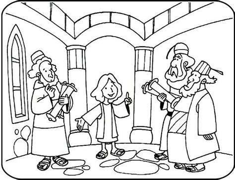 Jesus In The Temple At 12 Coloring Page | jesus in the temple coloring pages faith children s