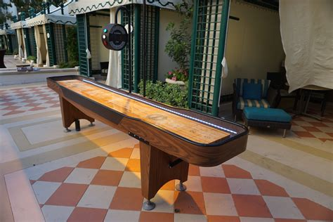 12 ft shuffleboard table 12 ft shuffleboard table w color changing led lights 24