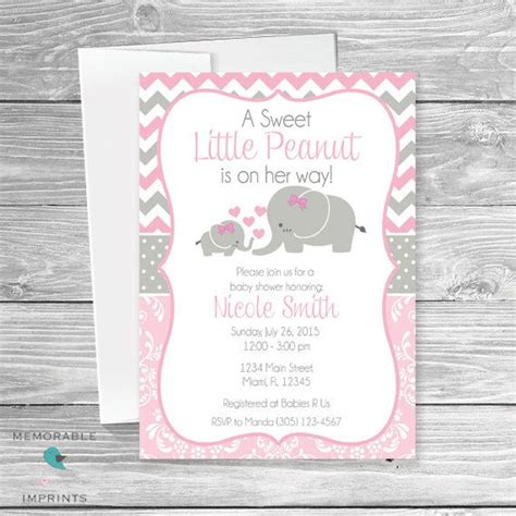 Baby Elephant Shower Invitations by 42 Best Baby Shower Elephant Invitations Images On