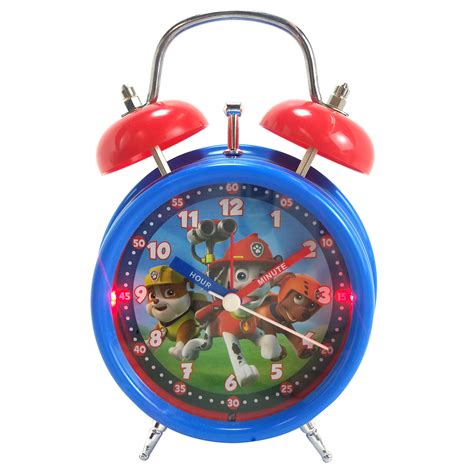 paw patrol light up quartz analog time bell clock shop your way shopping