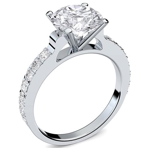 Preiswerte Verlobungsringe by Amoonic Verlobungsring Silber Swarovski Zirkonia