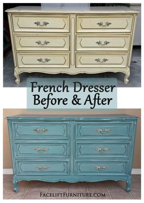 painted bedroom furniture before and after sea blue french dresser chest before after french