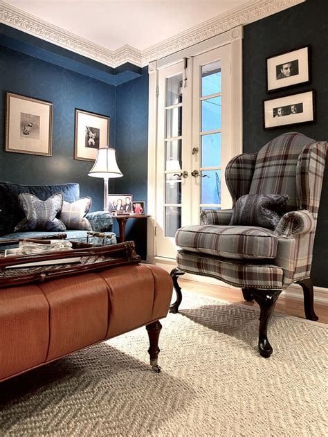 plaid living room furniture living room with plaid chair tartan tweeds chairs traditional living rooms