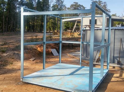 build  steel framed garden shed