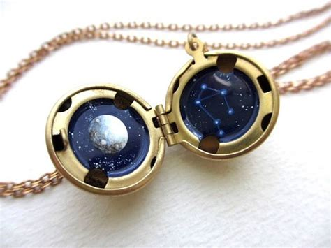 Handmade Lockets - beautiful handmade lockets with astronomical paintings