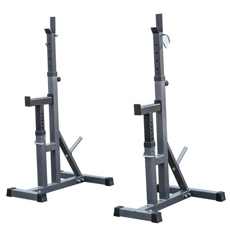 squat bench press rack 2 pc adjustable rack standard steel squat stands barbell