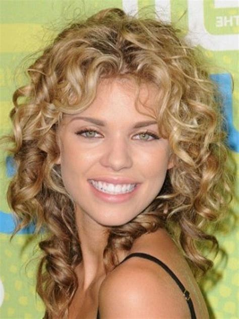 haircuts for permed hair 25 short curly hair with bangs shoulder length curly