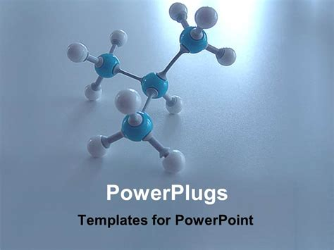 templates for powerpoint power plugs powerpoint template a molecule with blue and white