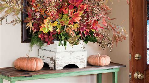 southern living fall decorating ideas fall foliage arrangement fall decorating ideas southern