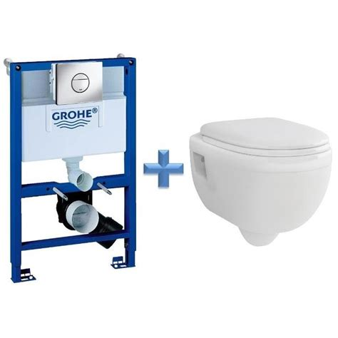 grohe wc grohe rapid sl 0 82m 3 in 1 wc set 38868 c w ivo wall hung