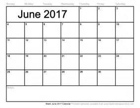 June 2017 Calendar   printable 2017 calendars