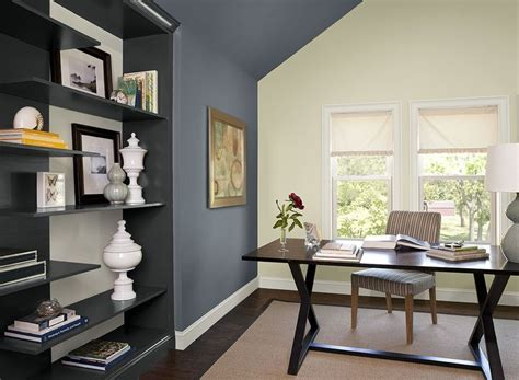 paint colors blue home office ideas boldly accented home