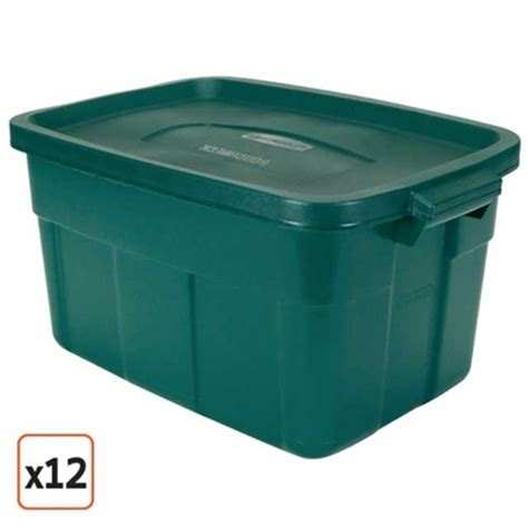 green rubbermaid storage containers rubbermaid roughneck 14 gallon green roughneck tote set