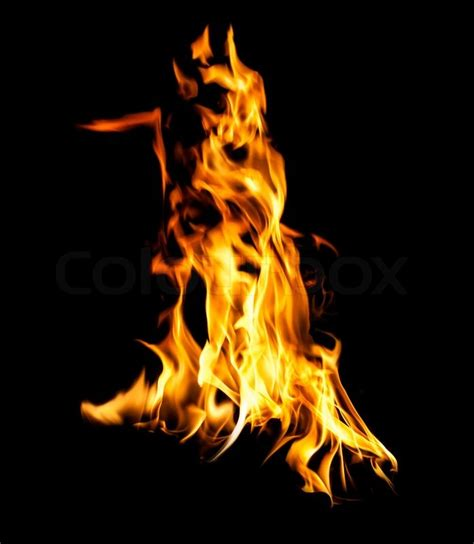 Fireplace Flames Images by Flames Stock Photo Colourbox