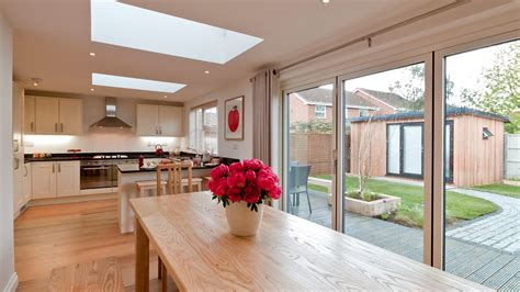 Family Kitchen Diner by One After Kitchen Diner And Garden Room Diy Sos