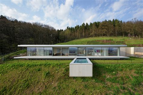 glass and concrete house villa k paul de ruiter architects archdaily