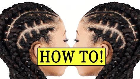 how to do bigbraids stitch braids 4 beginners feed in braids youtube