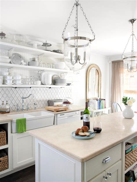 cottage kitchen islands white cottage kitchen milk and honey home hgtv