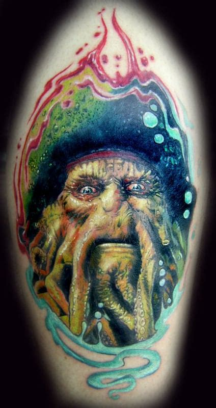 photo realism tattoo artist florida davy jones pirate caribbean realism tattoo tattoos miami