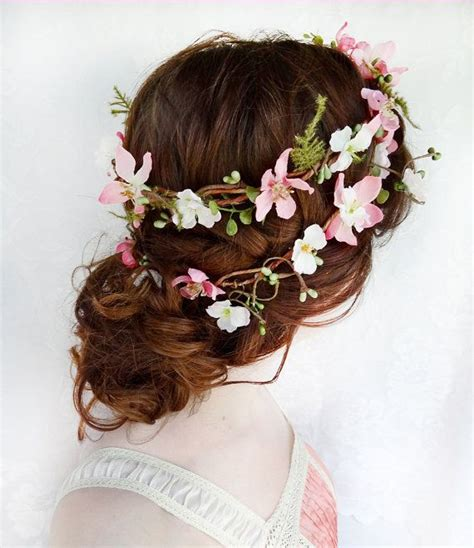 Wedding Hair Wreath Of Flowers by Dynelly Says Guirnaldas De Flores Para El Cabello