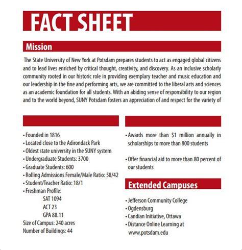 fact sheet template 12 fact sheet templates excel pdf formats