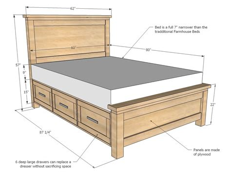 dresser bed frame ana white build a farmhouse storage bed with storage