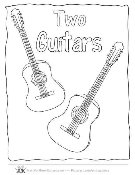 guitar coloring pages pdf guitar coloring pages acoustic guitar music collection of