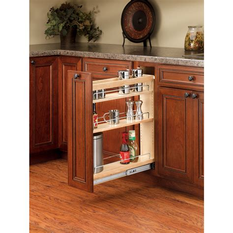 küchenschrank pull out spice rack shop rev a shelf 5 in w x 25 48 in h wood 1 tier cabinet