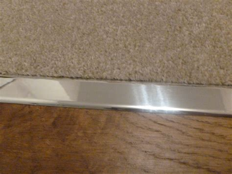 How To Replace A Metal Threshold On An Exterior Door How To Install A Metal Carpet Threshold Interior Home Design