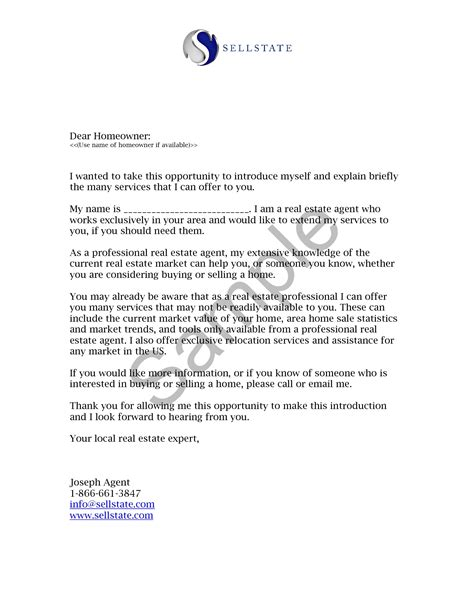 Insurance Prospecting Letters Template real estate prospecting letters sles world of exles