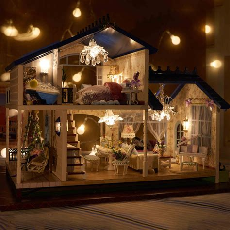 doll house music aliexpress com buy diy luxury provence villa furniture new wooden dollhouse with