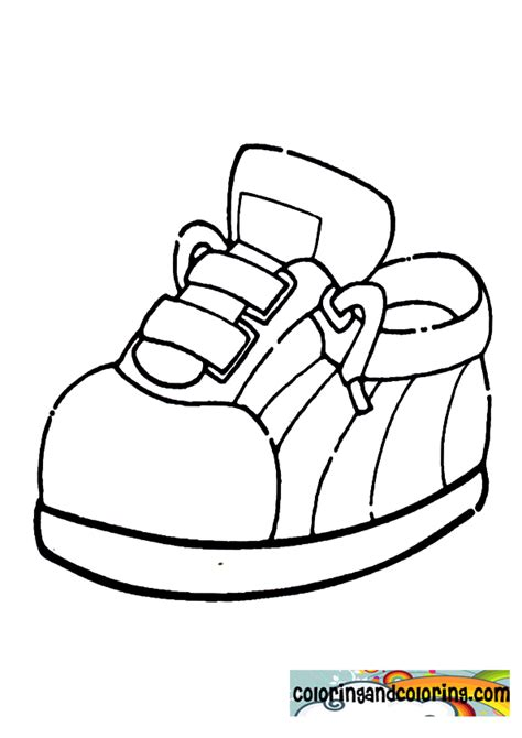 free coloring pages of shoe