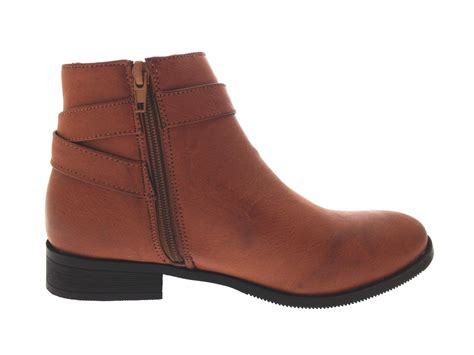 womens flat chelsea ankle boots slip on gusset warm winter