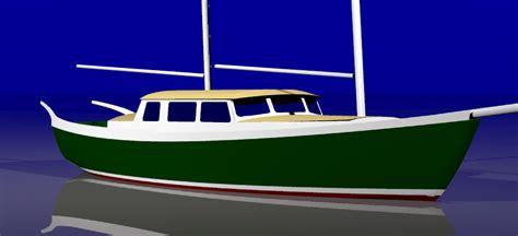 Origami Steel Sailboat - ragsdale schooner 36 keel origami style steel