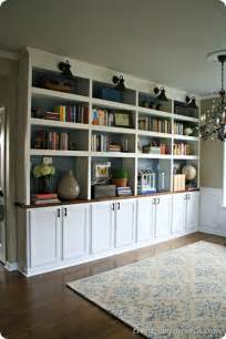 Built In Bookshelves Diy Remodelaholic Amazing Diy Fireplace And Built Ins