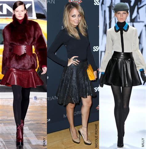 what to wear with a line leather skirt dress