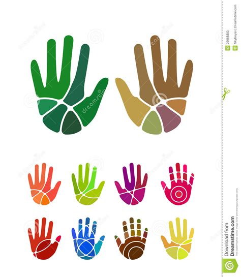 colorful logo design elements vector set design vector hand logo element stock photos image 29966893