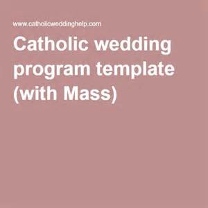 Catholic Mass Template by Program Template Wedding Programs And Catholic On