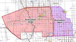 california wildfire evacuation map wildfire prompts evacuation order for residents of b