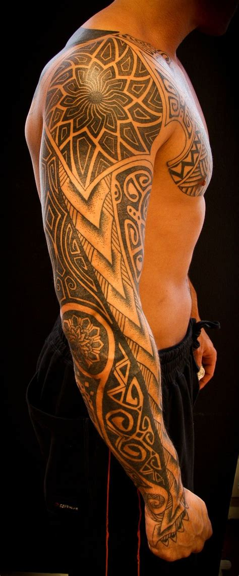 mens tribal sleeve tattoos designs arm tattoos for designs and ideas for guys