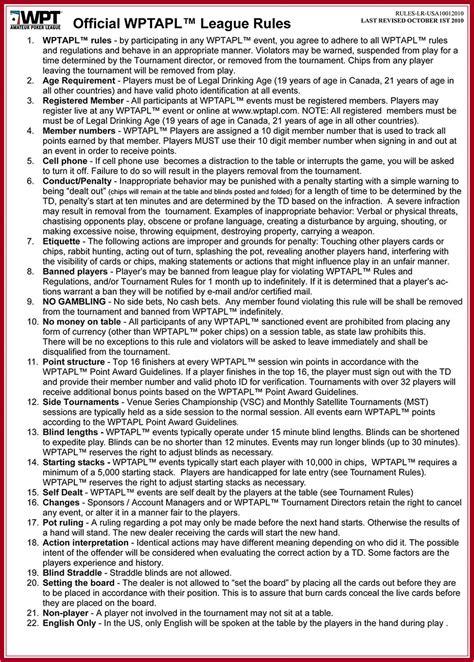 printable poker instructions for beginners king city poker rules