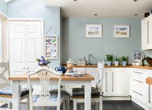 blue kitchen paint open up with space enhancing ideas for kitchen extensions