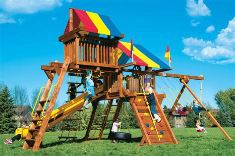 rainbow swing sets rainbow castles swing sets rainbow play systems