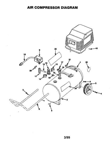 craftsman air compressor parts diagram size