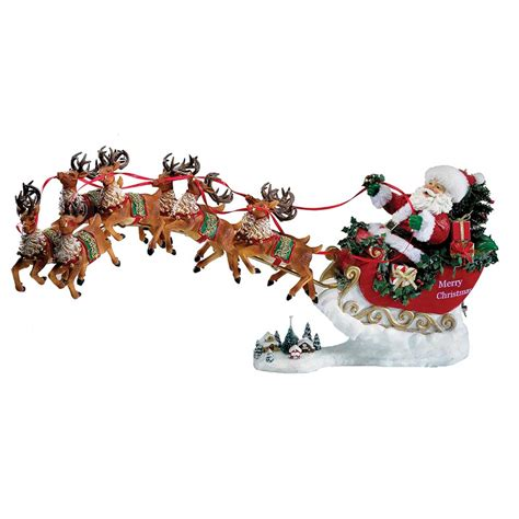 8 Pieces Of Reindeer Decor by Kurt S Adler 24 Quot Fabriche Musical Santa With Eight