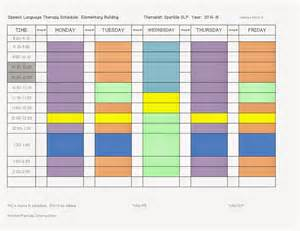 Therapy Schedule Template by Speech Therapy Schedule Template Principal Approved