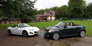 Mini Cooper Vs Miata Mazda Mx 5 Miata Vs Mini Cooper