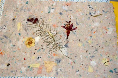 Handmade Paper Artists - handmade paper with flower inclusions cabin s